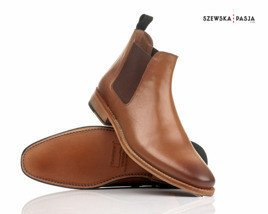 Classic leather Chelsea Jodhpur boots for men+ S13 men's bag