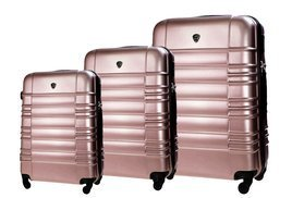 SUITCASE SET | STL838 ABS ROSE GOLD