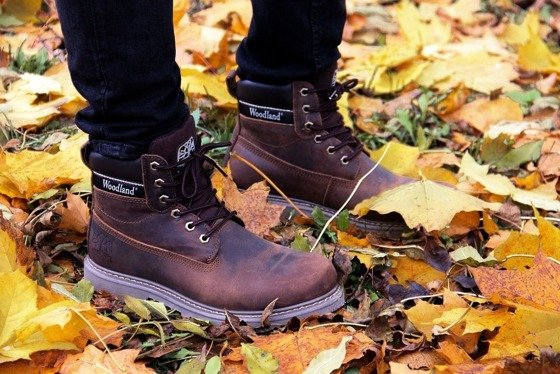 BROWN GENUINE LEATHER WALKING BOOTS