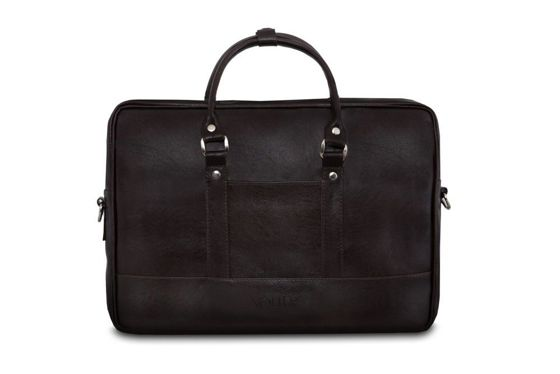 Brown men`s laptop shoulder bag Solier S04