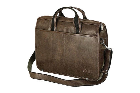 453fc378a4 Brown shoulder laptop bag S13 Brown