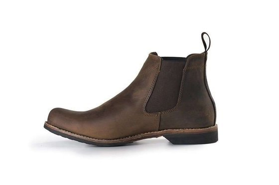 Classic leather Chelsea Military boots for men M031GB