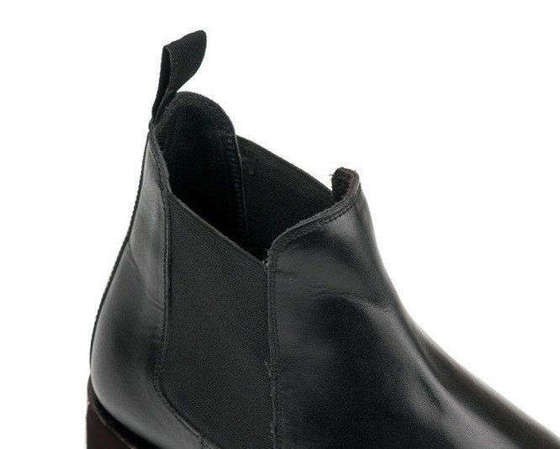 Classic leather Chelsea boots goodyear welted black Solier M833A