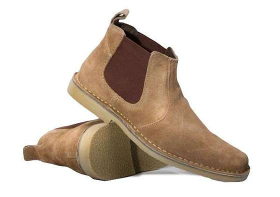 Classic leather suede Chelsea boots brown