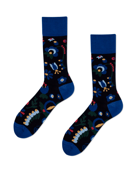 Cotton men's socks Folk Kashubia