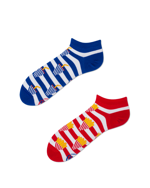 Cotton men's socks Fries and Soda low