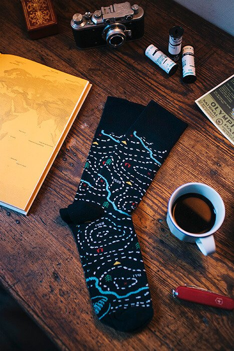 Cotton men's socks The Map