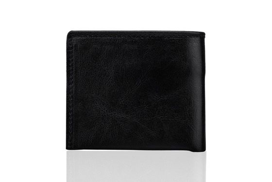 Elegant black leather wallet SOLIER SW05B