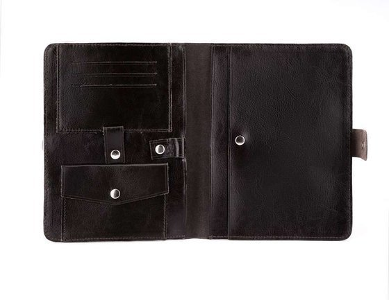 Genuine leather men's organiser Solier SA21 brown
