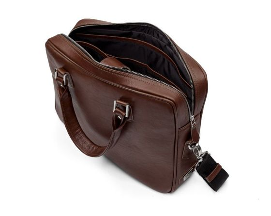 Laptop briefcase Solier SL22 dark brown