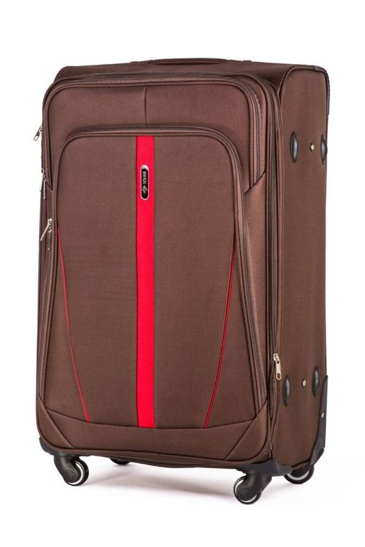 Medium soft luggage M Solier STL1706 coffe