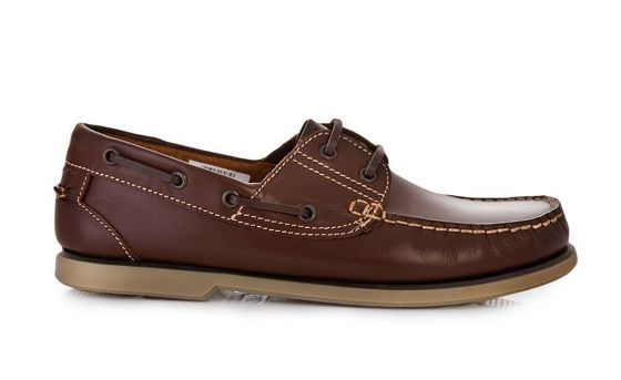 Men's leather moccasins brown