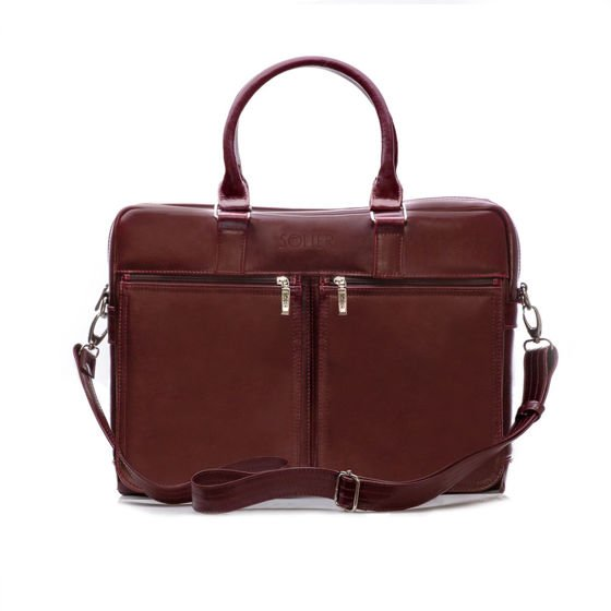 Men's leather shoulder bag Solier DUNDEE