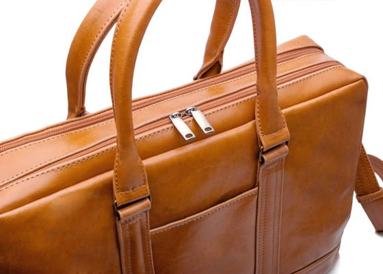 Men's leather shoulder laptop bag ABERDEEN