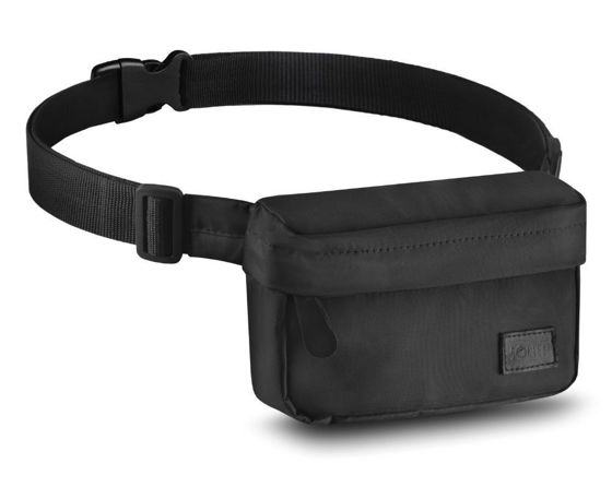 Men's urban waist bag Solier SN02 black