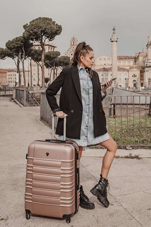 SUITCASE L | STL838 ABS ROSE GOLD
