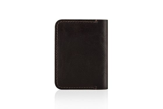 Slim leather men's wallet SOLIER SW11 SLIM BROWN
