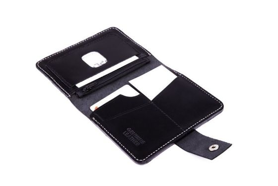 Slim leather men's wallet SOLIER SW17 BLACK VINTAGE