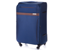 Large soft luggage XL Solier STL1316 navy-brown